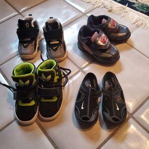 NIKE, ADIDAS, DISNEY CARS Toddler shoes